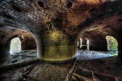 Vieille briqueterie abandonnée images stock