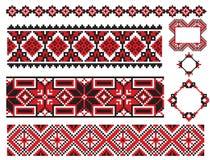 Vieille broderie d'élément ukrainien Photographie stock