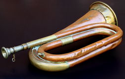 Vieille bugle d'armée Photo libre de droits