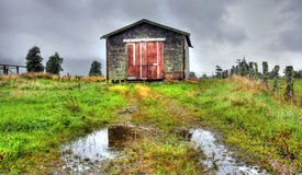 Vieille cabane dans les montagnes Photo stock