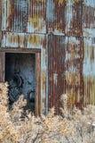 Vieille cabane de maison de pompe Photographie stock