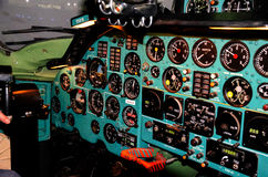 Vieille cabine d'aéronefs photographie stock libre de droits