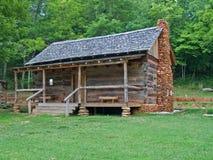 Vieille cabine de logarithme naturel Photo stock