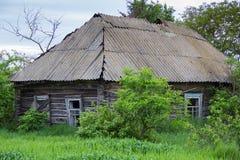 Vieille cabine en bois Photo libre de droits