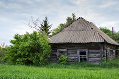Vieille cabine en bois Photos stock