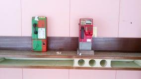 Vieille cabine téléphonique publique Photographie stock