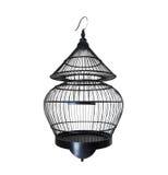 Vieille cage à oiseaux noire Photo libre de droits