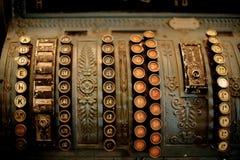 Vieille caisse comptable Photo stock