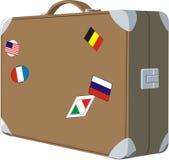Vieille caisse de bagages Photo libre de droits