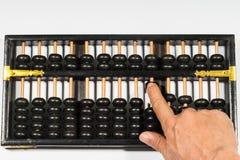 Vieille calculatrice de manière d'abaque Images stock