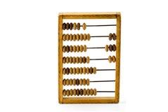 Vieille calculatrice en bois Images stock