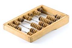 Vieille calculatrice en bois Photo stock