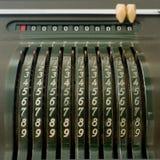 Vieille calculatrice mécanique Images stock