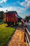 Vieille cambuse à la gare à nouvel Oxford, Pennsylvanie photo libre de droits