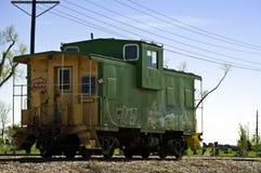 Vieille cambuse retirée de chemin de fer photo libre de droits
