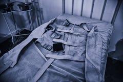 Vieille camisole de force psychiatrique image libre de droits