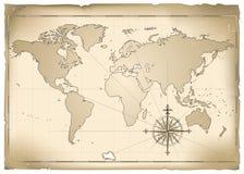 Vieille carte illustration de vecteur