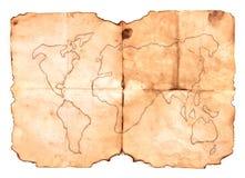 Vieille carte Images libres de droits