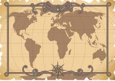 Vieille carte illustration stock