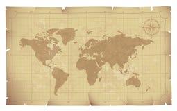 Vieille carte Image libre de droits