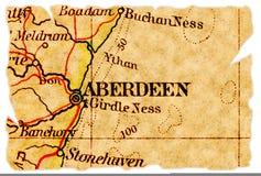 Vieille carte d'Aberdeen Photographie stock libre de droits