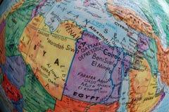 Vieille carte d'impression, Libye, Egypte, oeil de poissons image stock