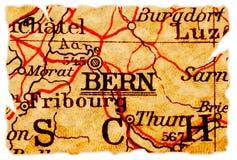 Vieille carte de Berne Images stock