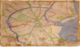 Vieille carte de cru Image stock