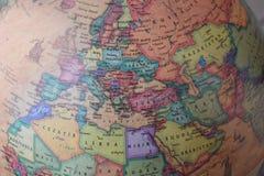 Vieille carte de globe des pays de Moyen-Orient Photos libres de droits