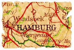 Vieille carte de Hambourg Photos libres de droits