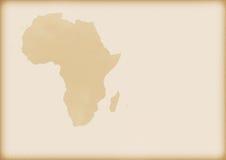 Vieille carte de l'Afrique Images libres de droits