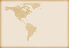 Vieille carte de l'Amérique illustration libre de droits