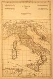 Vieille carte de l'Italie. Photos libres de droits