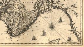 Vieille carte de la Norvège Photographie stock