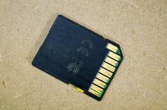 Vieille carte de mémoire d'écart-type Images stock