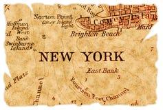 Vieille carte de New York Photographie stock libre de droits