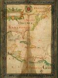 Vieille carte de papier tôt des Etats-Unis photos stock