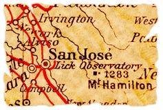 Vieille carte de San Jose Photographie stock libre de droits
