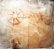 Vieille carte de trésor illustration de vecteur
