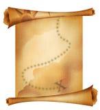 Vieille carte de trésor photographie stock