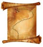 Vieille carte de trésor Images libres de droits
