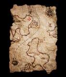 Vieille carte de trésor. Photographie stock libre de droits