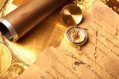 Vieille carte de trésor Photos libres de droits