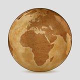 Vieille carte du monde de la terre Image stock