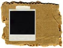 Vieille carte polaroïd avec le fond de cru Image libre de droits