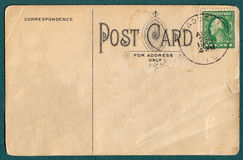 Vieille carte postale photo stock
