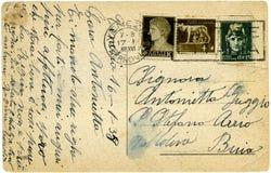 Vieille carte postale. image libre de droits