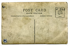 Vieille carte postale Photographie stock libre de droits