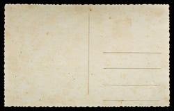 Vieille carte postale Image libre de droits