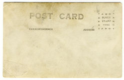 Vieille carte postale de cru Image libre de droits